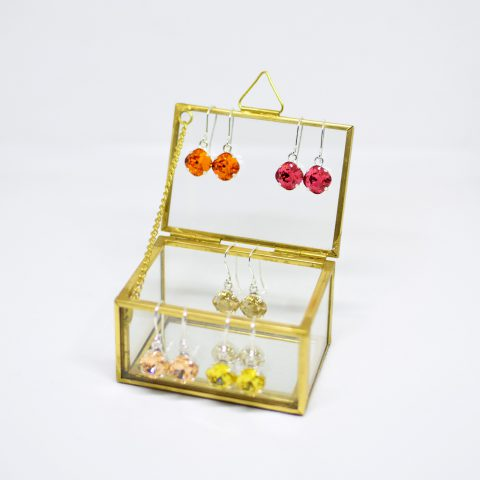 Small Cushion Stone Earrings