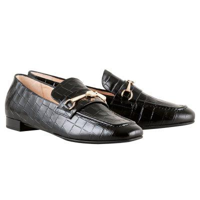 Hogl Black Croc Loafer