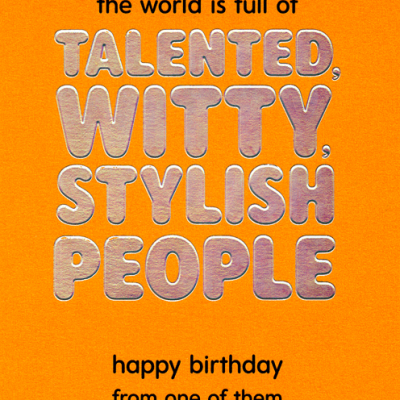 Pigment Talented Witty Card