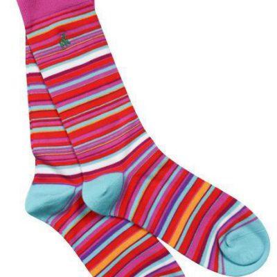 Narrow striped bamboo socks