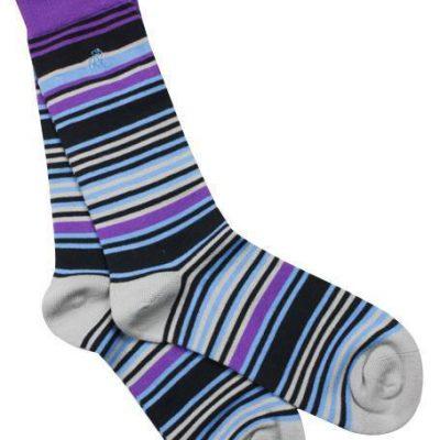 Swole Panda Purple Blue Socks