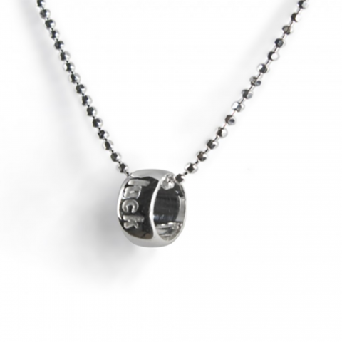 Luck word circle necklace