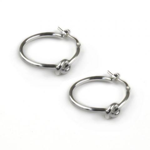 Lucky Knot Hoop Earrings