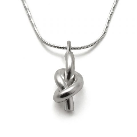 Silver Lucky Knot Necklace