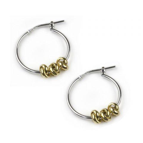 Gold Three Knots Earrings