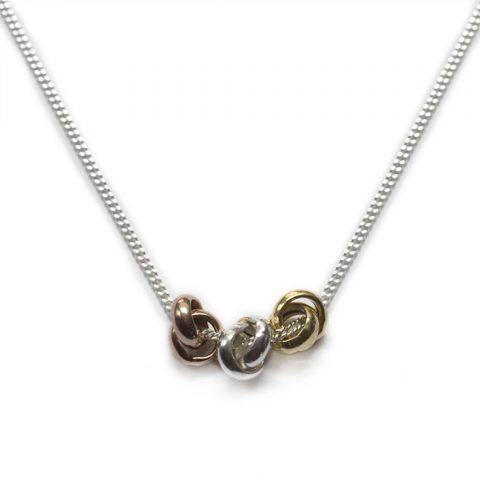 Three Knots Necklace