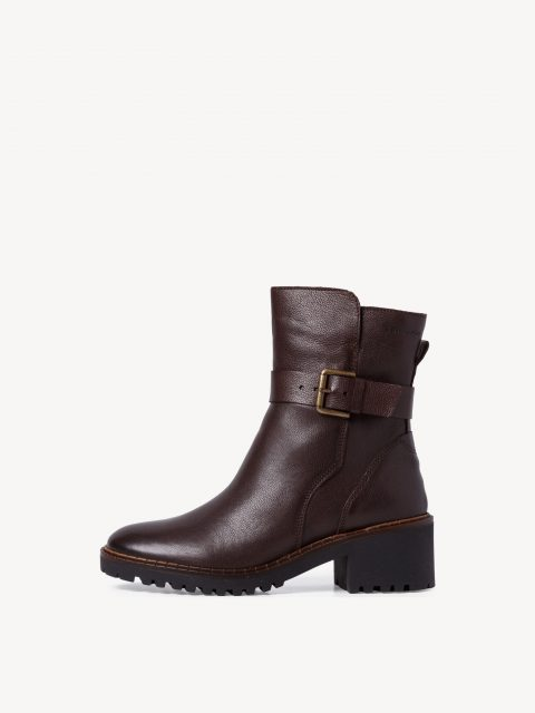 Tamaris Buckle Leather Bootie