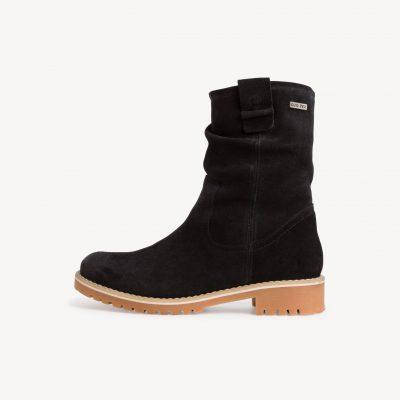 Tamaris Leather Black Booties