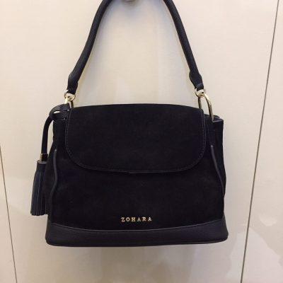 Zohara Black Suede Handbag